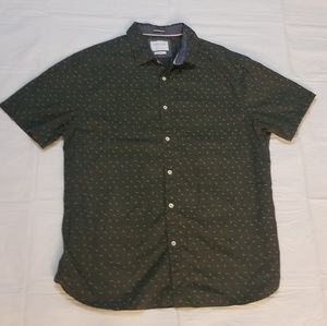 Denim & Flower Shirts - Men's Casual Button Down Shirt
